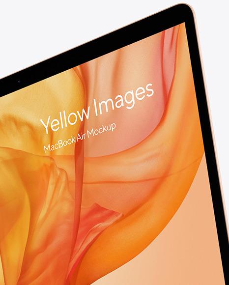 MacBook Air Gold Mockup