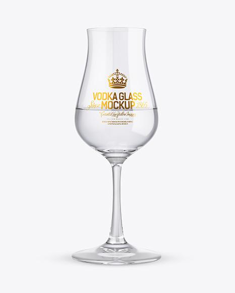 Vodka Snifter Glass Mockup