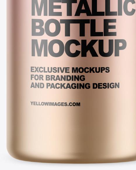 40 ml Metallic Bottle Mockup