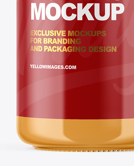 Clear Glass Jar with Creamed Honey Mockup
