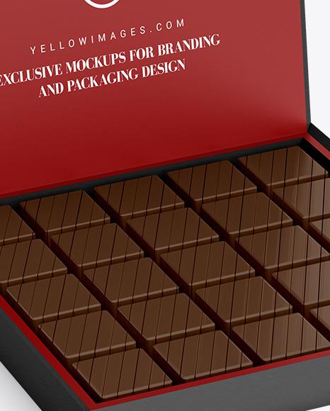 Box of Chocolate Sweets Mockup