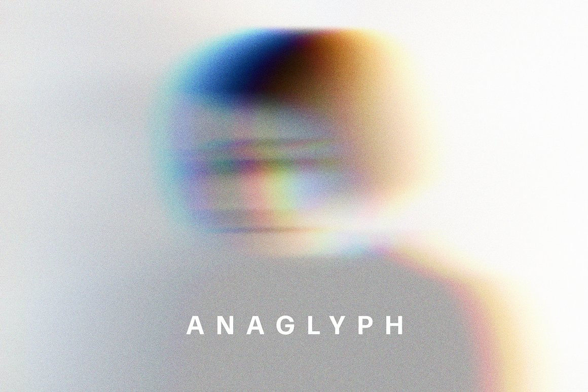 Anaglyph VHS Photo Effect