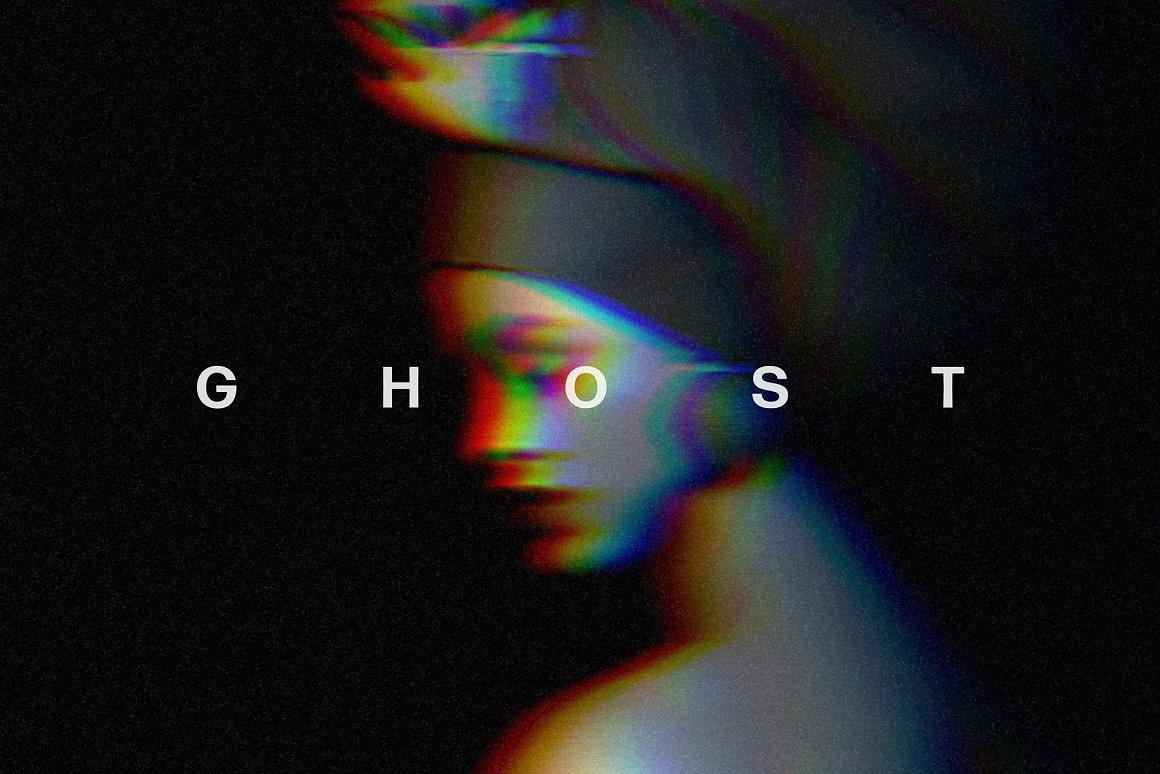 Glitch Ghost Photo Effect