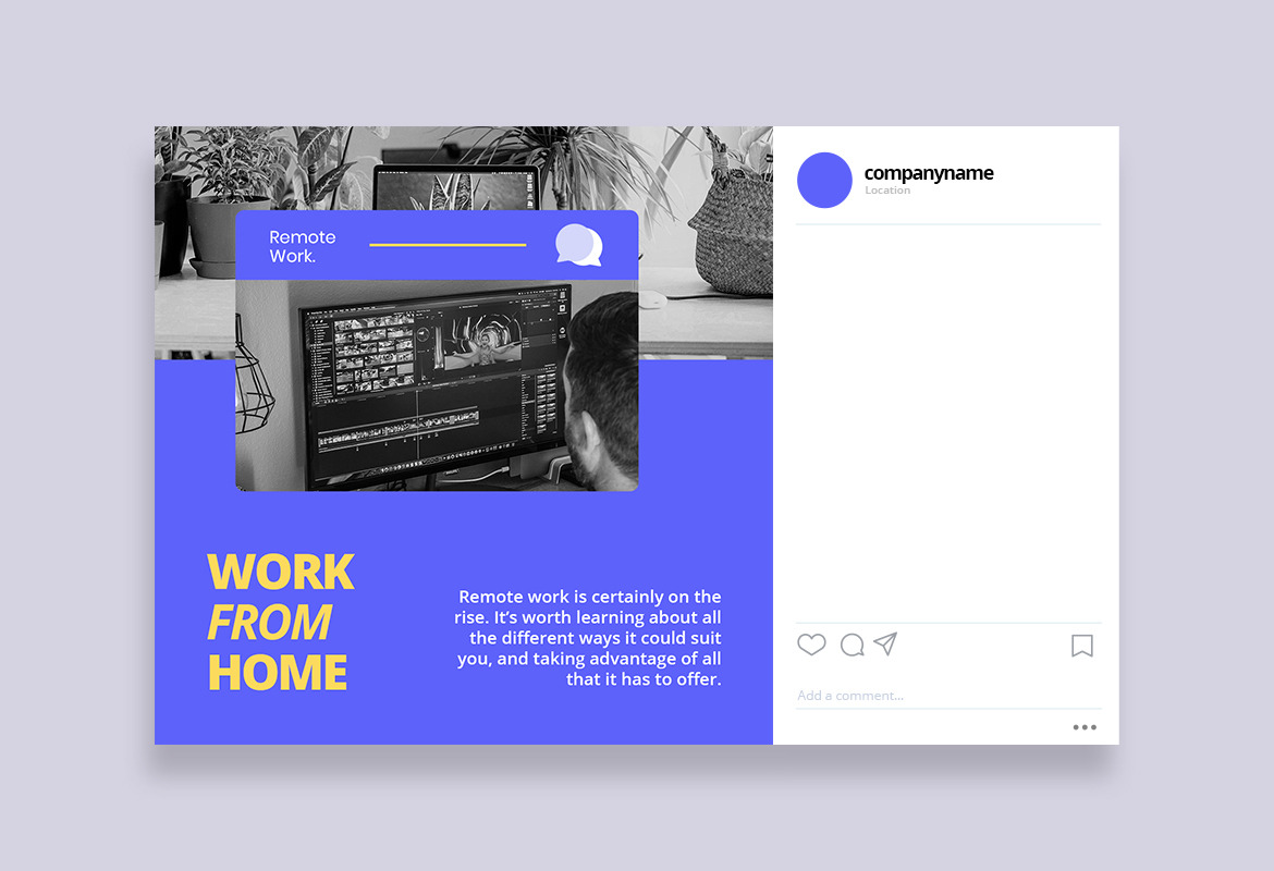 Work from Home Instagram