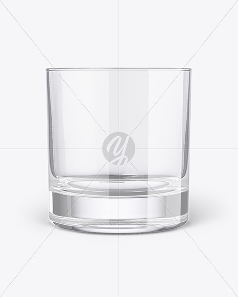 Clear Whisky Tumbler Glass Mockup