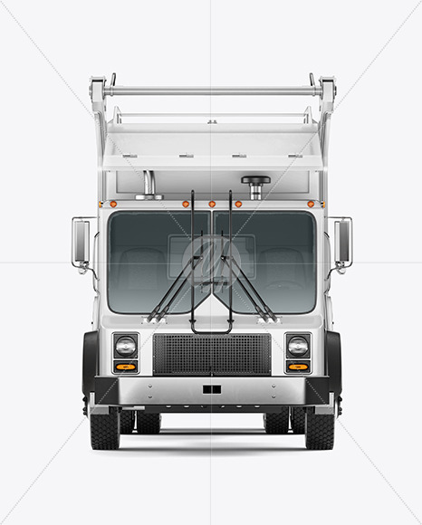 Garbage Truck Mockup - Front View - Yellowimages Mockups