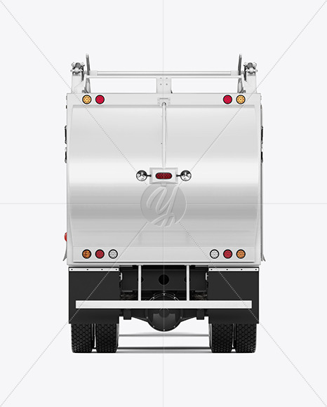 Garbage Truck Mockup - Back View - Yellowimages Mockups