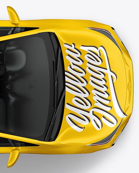 Sedan Mockup - Top View