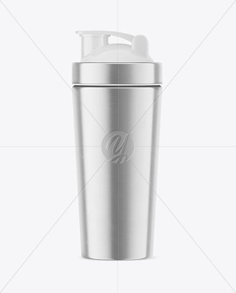 Metallic Shaker Bottle Mockup