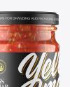 Glass Jar With Salsa Sauce Mockup