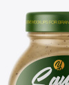 Glass Jar with Mushroom Sauce Mockup