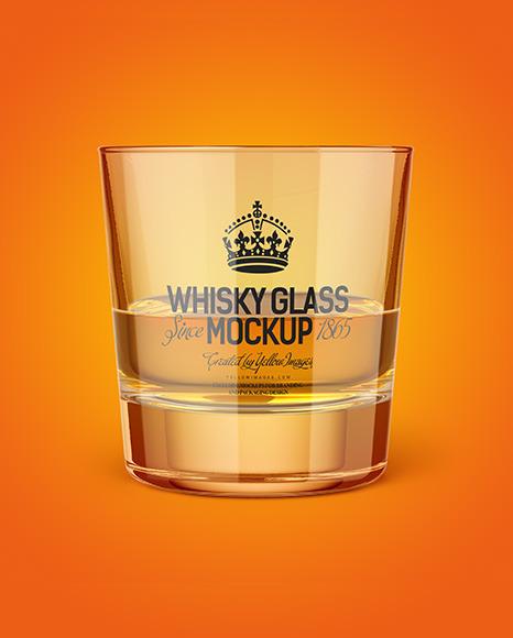 Whisky Tumbler Glass Mockup