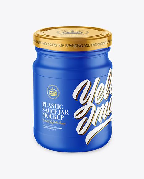 Plastic Sauce Jar Mockup