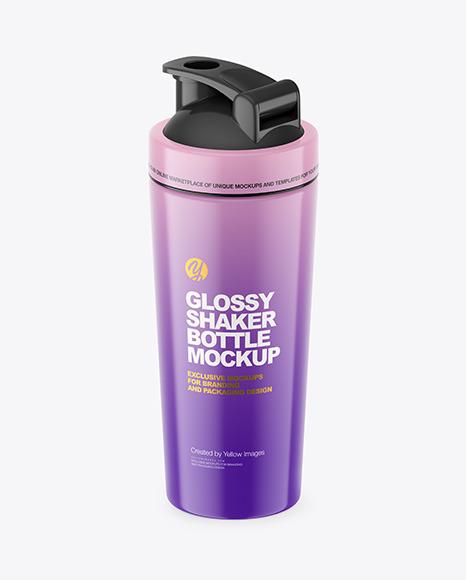 Glossy Shaker Bottle Mockup