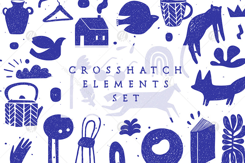 Crosshatch Elements Set