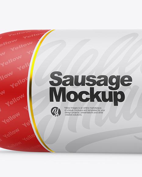 Matte Sausage Chub Mockup