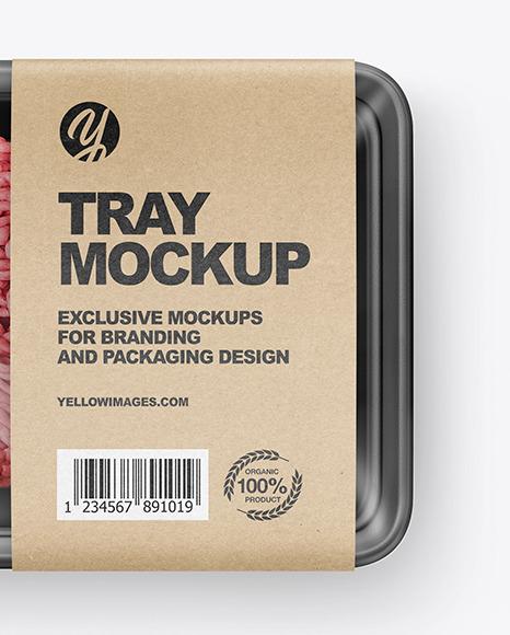 Plastic Tray W/ Mince Mockup