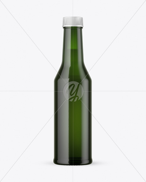 Green Glass Bottle Mockup