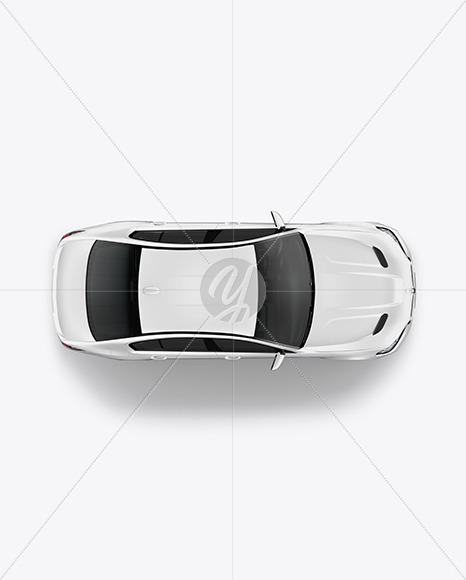 Executive Car Mockup - Top View - Yellowimages Mockups