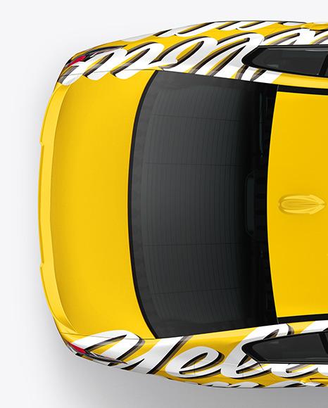 Executive Car Mockup - Top View