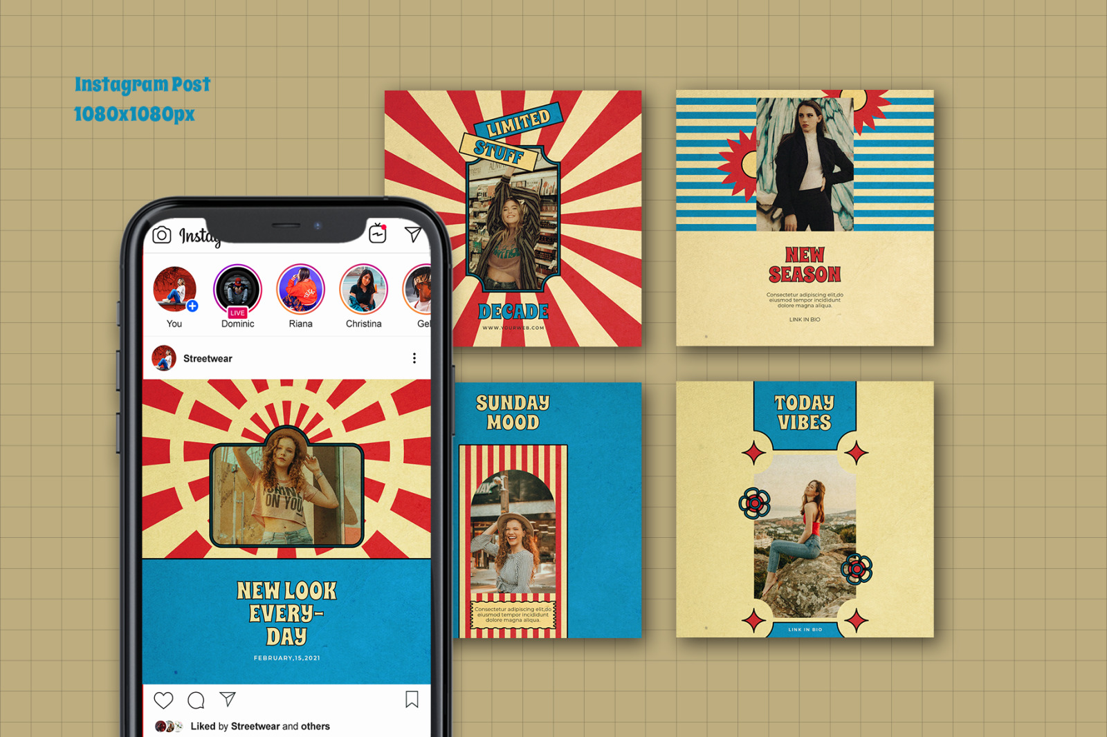 Chaterine Instaagram Template