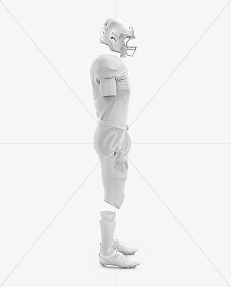 American Football Kit Mockup - Side View