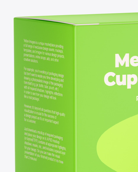 Matte Menstrual Cup Package Mockup
