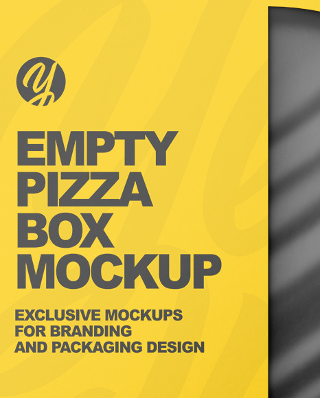 Empty Pizza Box Mockup
