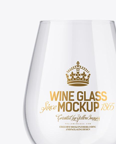 Clear Wine Glass Mockup
