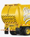 Garbage Truck Mockup - Back Half Side View