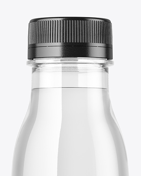 Clear Plastic Water Bottle Mockup