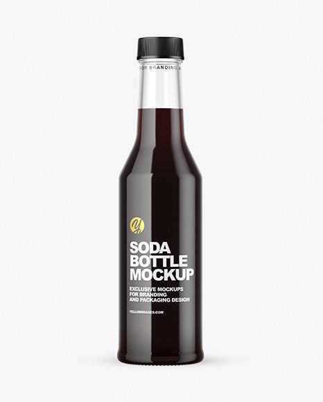 Clear Glass Dark Drink Bottle Mockup