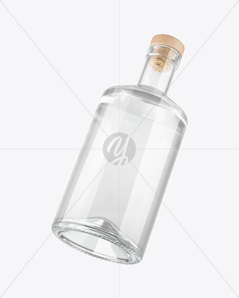 Clear Glass Gin Bottle Mockup