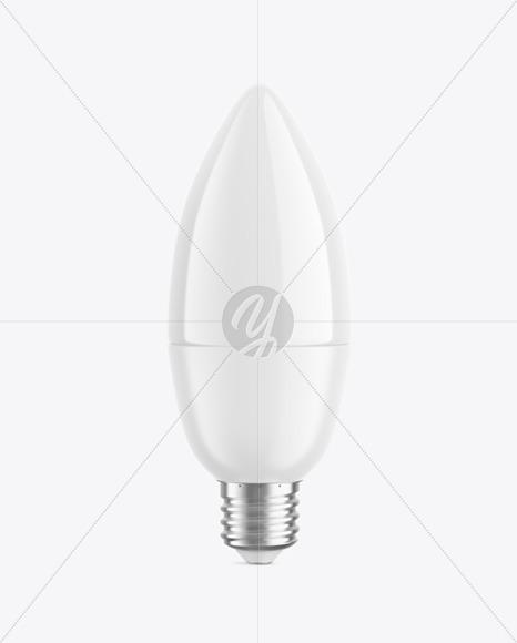 Candle Shaped Light Bulb Mockup