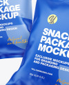 Two Matte Snack Packages Mockup