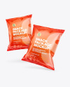 Two Glossy Snack Packages Mockup