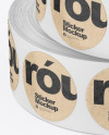 Two Rolls w/Round Stickers Mockup