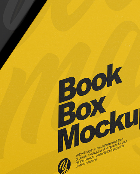 Set of Books in a Box Mockup