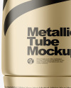 Matte Metallic Cosmetic Tube Mockup