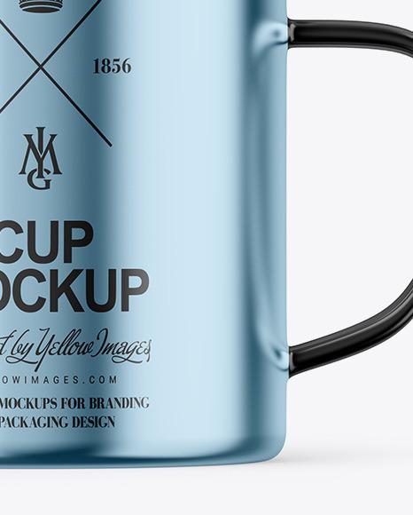Glossy Metallic Cup Mockup