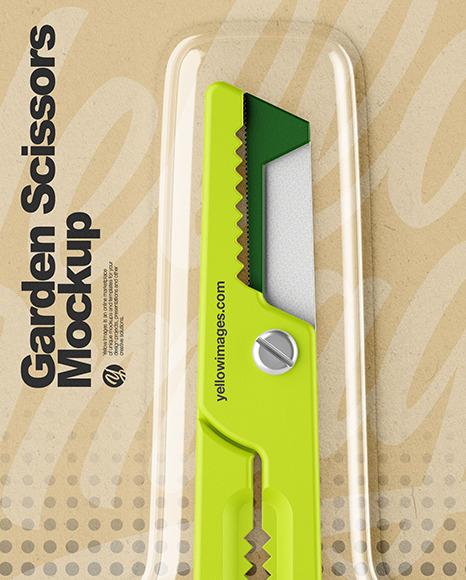 Garden Scissors Mockup -Front View