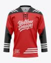 Lace Neck Hockey Jersey Mockup