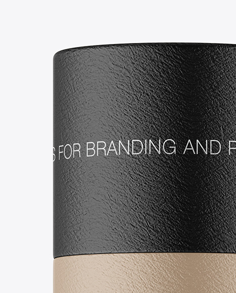 Textured Paper Tube Mockup