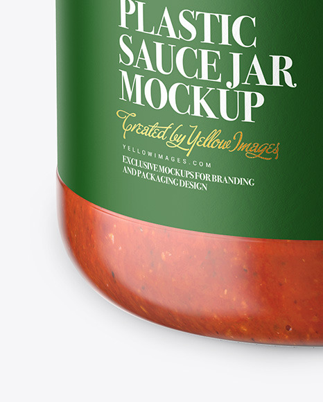 Glass Jar With Tomato Sauce Mockup