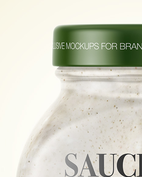 Sour Cream Sauce w/ Mushrooms Jar Mockup