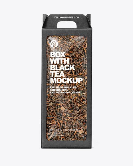 Kraft Box with Tea Mockup