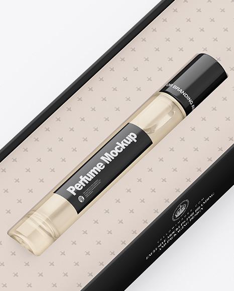 Box With Perfume Mockup