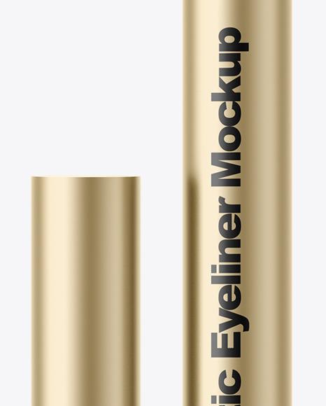 Metallic Eyeliner Mockup