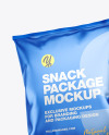 Two Matte Metallic Snack Packages Mockup