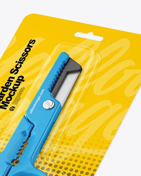 Garden Scissors Mockup -Half Side View